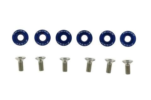 Śrubki z podkładkami uniwersalne JDM 8mm blue - GRUBYGARAGE - Sklep Tuningowy